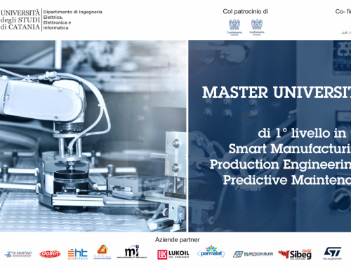 L'Università di Catania lancia un master in smart manufacturing, production engineering and predictive maintenance. Fra i partner è presente StMicroelectronics